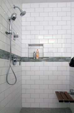 Amazing Of White Shower Tile Subway Traditional Basic Ideas Outstanding White Subway Tile Shower Ideas, amazing Interior Inspiring ideas White Subway Tile Bathroom, Subway Tile Showers, Subway Tiles, Bathroom Showers, Bathroom Grey, Bathroom Closet, Bath Shower, Bathroom Shelves, Bathroom Storage