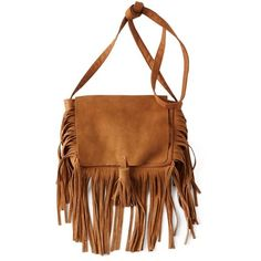 AEO Leather Fringe Crossbody Purse ($35) ❤ liked on Polyvore featuring bags, handbags, shoulder bags, accessories, purses, leather shoulder bag, fringe crossbody, brown fringe purse, brown leather shoulder bag and leather fringe purse