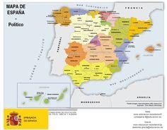MAPAS MUDOS Y CON DATOS: mapa por provincias de España