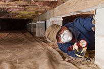 Crawlspace odors can spread to the rest of the home. Many houses are commonly built with a crawlspace between the ground and the first floor. The builders do this so that they can have easy access to ductwork. Mold In Crawl Space, Crawl Space Vapor Barrier, The Crawl, Crawl Spaces, Crawl Space Insulation, Home Insulation, Termite Inspection, 7 Places, Selling Your House