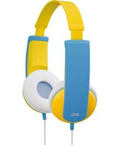 JVC Headphone - Stereo - Yellow, Blue - Wired - Over-the-head - Binaural - Circumaural - ft Cable - Kids Headphones, Noise Cancelling Headphones, Stereo Headphones, Electronics Gadgets, Tech Gadgets, Gaming Headset, Electronic Gifts, Logitech, Gifts For Boys