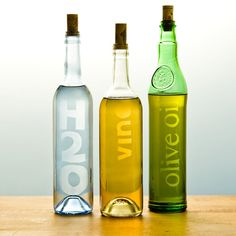 Hand-Crafted Etched Glass Bottles