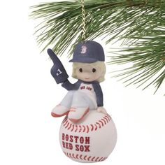 Precious Moments Boston Red Sox Number 1 Fan Girl Ornament