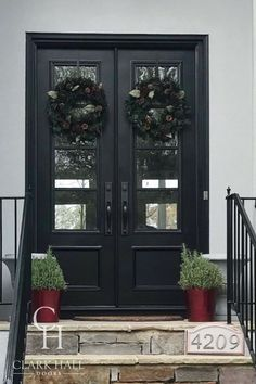 Home for the holidays? Create your dream wrought iron door from scratch when you partner with our team of experts—we facilitate everything from the first sketch to final installation. Front Entry, Entry Doors, Entryway, Traditional Styles, Traditional Doors, Clark Hall, Custom Exterior Doors, Wrought Iron Doors, House Entrance