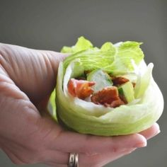 Ranch Bacon Lettuce Tomato and Cucumber Lettuce Wrap. My favorite sandwich minus the calorie and carb ridden bread!!