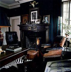 Like the black, zebra, Helmut Newton, leather, black lamp shade and antlers