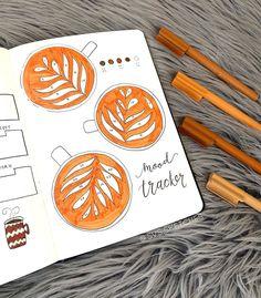 17 Bullet Journal Coffee Theme Page Ideas — Sweet PlanIt Bullet Journal Mood Tracker, December Bullet Journal, Bullet Journal Cover Ideas, Bullet Journal Notebook, Bullet Journal Themes, Bullet Journal Spread, Journal Covers, Life Journal, Bellet Journal