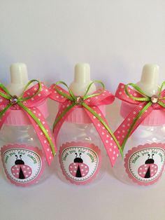 12 small 3.5 Pink Lady bug baby shower by Marshmallowfavors