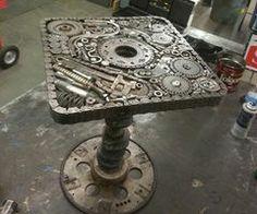 Steampunk Tendencies | Scrap Metal Spinning Table http://on.fb.me/V0gF3K | via Facebook