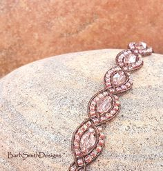 7a05e8501c800 Pink Beaded Bracelet - Leather Wrap - Crystal Beads - Magnet Clasp -  Bracelet Earrings Set - Gift for Woman - Mystic Sister - Pink Lace