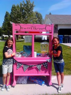Lemonade Stand--My Talented nephew and his amazing wife combined skills and mad this amazing sweet shop so their daughter and her friend could earn money to support her fees for dance team--not a handout, just a helping hand. Great for kids to learn!
