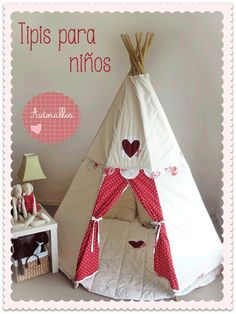 Someday, I will have a Pan inspired playroom. How perfect to have Princess tiger lillys teepee in the playroom Diy For Kids, Crafts For Kids, Diy Tipi, Childrens Teepee, Kid Spaces, Play Houses, Girls Bedroom, Kids Playing, Playroom