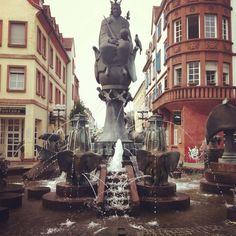 Fun Fact: Kaiserslautern is also known as K-town. We are the largest military community outside of the US // Kaiserbrunnen (Emperor's Fountain) in Kaiserslautern, Germany #kmc #pcsing to #germany