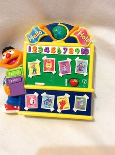 Learn Ernie Sesame Street Workshop English Spanish Electronic baby toy translate #Mattel
