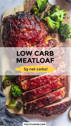 Ketogenic Recipes, Low Carb Recipes, Beef Recipes, Real Food Recipes, Recipies, Healthy Recipes, Low Carb Lunch, Low Carb Diet, Low Carb Meatloaf