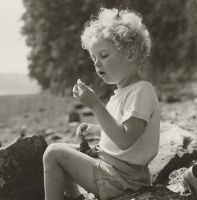 Colm Thomas Eating a Sea Grape, Laugharne, Wales