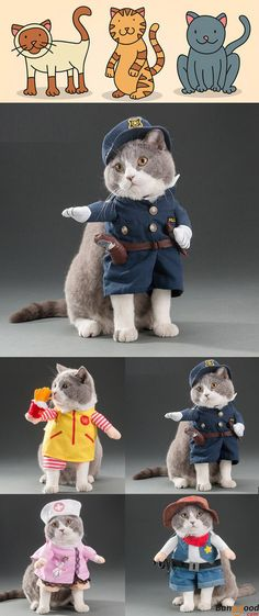Love this cat costume!! Only US$6.99 + Free Shipping. 5 patterns and 4 sizes available. Shop at banggood.