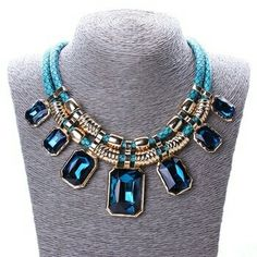 4b7893e1ca1 Wholesale-Trendy Necklaces Pendants Rope Collar 18K Gold Plated Crystal  Statement Bling & Fashion