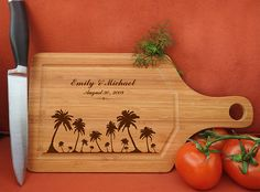 Items similar to Personalized Cutting Board Wood fish restaurant seafood cuisine on Etsy Engraved Cutting Board, Diy Cutting Board, Personalized Cutting Board, Wood Cutting Boards, Anniversary Dates, Wedding Anniversary Gifts, Wedding Gifts, Wall Decor Stickers, Wall Decals