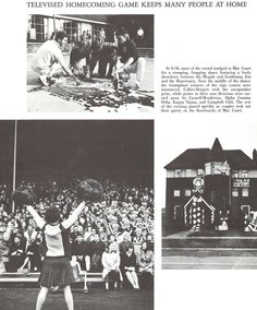 The 1965 homecoming football game at Hayward Field was televised, a rarity in the mid-60s. From the 1966 Oregana (University of Oregon yearbook). www.CampusAttic.com