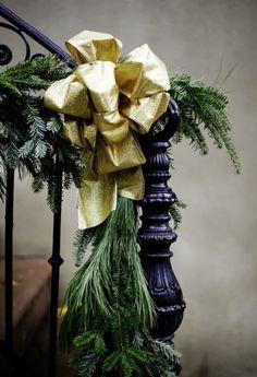Holiday garland in Savannah for Christmas.