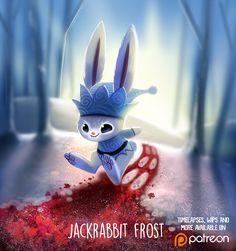 Daily Paint Jackrabbit Frost by Piper Thibodeau Cute Animal Drawings Kawaii, Kawaii Drawings, Cute Drawings, Kawaii Doodles, Creature Concept Art, Cute Creatures, Cute Illustration, Cute Art, Amazing Art