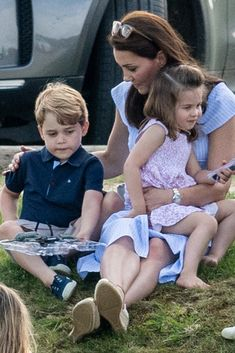 Kate Middleton, George, and Charlotte Adorably Support Prince William at His Polo Match