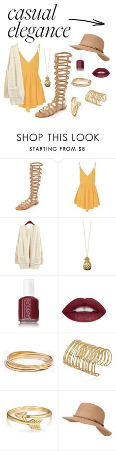 """""""Casual elegance"""" by kbeans2016 ❤ liked on Polyvore featuring Stuart Weitzman, Glamorous, Catherine Zoraida, Essie, Madewell, Bling Jewelry, Black Rivet, women's clothing, women and female"""