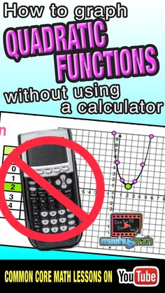 Do you know how to post a quadratic function without using a graphing calculator? On this animated math lesson, we revisit how to graph a linear function and apply this understanding to quadratics. This lesson is aligned with the common core standards for Algebra and was designed with flipped classroom teachers and visual learners in mind!   Check out our ever-growing library of lessons and subscribe to our YouTube channel!