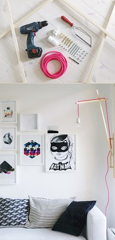DIY lamp. Nice cord! maybe with ARLI cables