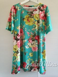 Flowers in a tunic. So fresh!