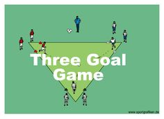 http://www.top-soccer-drills.com/three-goal-game.html #SoccerPracticeGamesForU8 #Soccer #Practice #Games For #U8