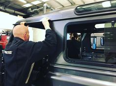 Teamwork at its best!  #Defender #LandRover #LandRoverDefender #TwistedDefender #AntiOrdinary #DefenderRedefined #Redefined #Details #4x4 #Style #Lifestyle #Yorkshire #InsideAndOut #Handmade #Handcrafted