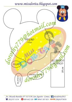 Miki Mouse, Felt, Templates, Empanadas, Hand Crafts, Ideas, Notebooks, Projects, Characters
