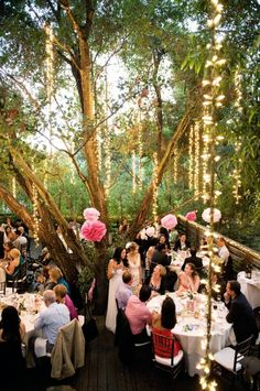 Green Weddings: Week Four, Choosing an Eco-Friendly Wedding Venue Beautiful private reception area. and beautiful decor in the trees. Nice if our wedding is in the evening when the sun goes down. Wedding Week, Wedding Blog, Our Wedding, Wedding Venues, Dream Wedding, Wedding Dinner, Wedding Themes, Wedding Ceremony, Wedding Stuff