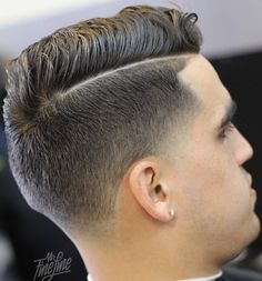 side parted taper haircut