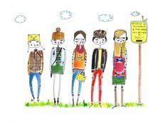 inspirational print children's wall artChildren's by diarysketches, $15.00