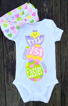 Hey, I found this really awesome Etsy listing at https://www.etsy.com/listing/269462328/baby-girl-my-first-easter-onesie