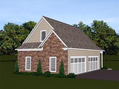 Garage Plan chp-56298 at COOLhouseplans.com