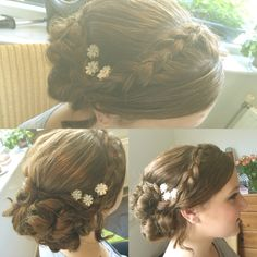 Braided hair updo #prom #braided #hair