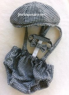 Arthur Newsboy Set  Diaper Cover Suspenders Bow by fourtinycousins, $90.00