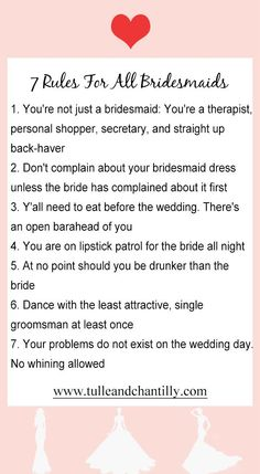 7 rules for all the bridesmaids, 2020 wedding idea #wedding #weddinginspiration #bridesmaids #bridesmaiddresses #bridalparty #maidofhonor #weddingideas #weddingcolors #tulleandchantilly Bridesmaid Tips, Wedding Bridesmaid Dresses, Tulle Wedding, Brides And Bridesmaids, Wedding Tips, Wedding Blog, Wedding Ceremony, Wedding Photos, Wedding Planning