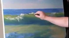 how to paint ocean waves with oil - YouTube