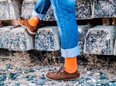 calcetines naranjas / orange socks Calcetín Lemonade Attack Orange Obsession, venta en la tienda on-line