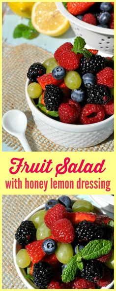 This quick and easy Fruit Salad with Honey Lemon Dressing is the perfect addition to a spring breakfast or brunch spread!