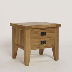 Provence Solid Oak 1 Drawer Lamp Table -  - Bedside Table - Ametis - Space & Shape - 2