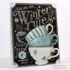 Love this card by Vicky P using  the Simon Says Stamp January 2015 card kit