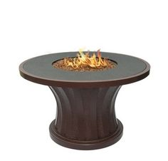 PatioHeatUSA | Elegant - Rodeo Chat Height with Granite Outdoor Fireplace