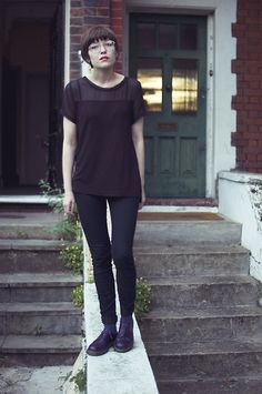 I want her purple Dr Martens!!!!; via Fashion Your Seatbelts blog