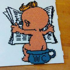 Potty Boy hama mini beads by ciciliemischelle